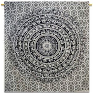 Other - Black and White Elephant Patterned Tapestry